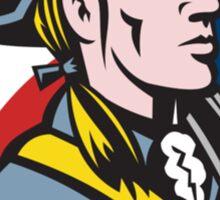 American Patriot Minuteman With Flag Sticker