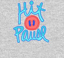 Hit Pause Camp Grounded Button Outdoors Typography Inspiration Mandala Womens Fitted T-Shirt