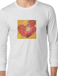 Lovers Kiss And Their Bodies Form A Love Heart Long Sleeve T-Shirt
