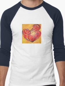 Lovers Kiss And Their Bodies Form A Love Heart Men's Baseball ¾ T-Shirt