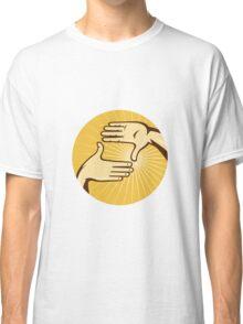 Hands Framing Shot aRetro Style Classic T-Shirt