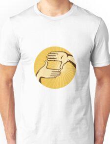 Hands Framing Shot aRetro Style Unisex T-Shirt