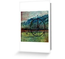Penny-farthing, high wheel, high wheeler, and ordinary bicycle Greeting Card