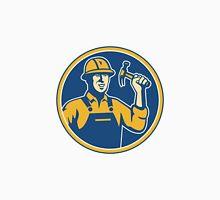Construction Worker Carpenter Tradesman With Hammer Unisex T-Shirt