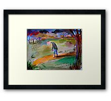 the clicking of his beating heart Framed Print