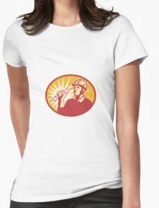 Electrician Power Line Worker Lightning Bolt Womens Fitted T-Shirt