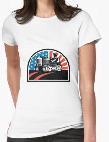 American Farmer Riding Vintage Tractor T-Shirt