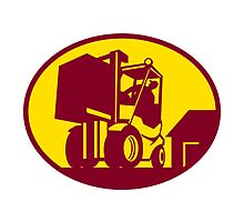 Forklift Truck Operator Retro by patrimonio