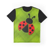 Ladybug on green background Graphic T-Shirt
