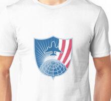 Airplane Jet Plane World Shield Unisex T-Shirt