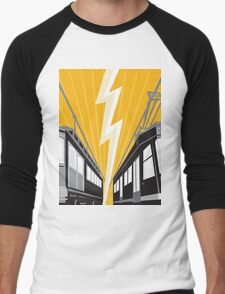 Vintage and Modern Streetcar Tram Train Men's Baseball ¾ T-Shirt