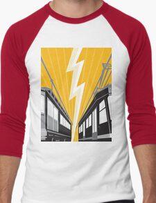 Vintage and Modern Streetcar Tram Train Men's Baseball ¾ T-Shirt