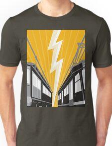 Vintage and Modern Streetcar Tram Train Unisex T-Shirt