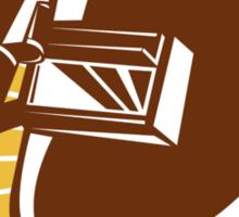 Welder Visor And Welding Torch Retro Shield Sticker