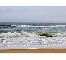 Surf at Nags Head Beach, North Carolina Photographic Print