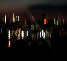 NEW YORK SKYLINE IN ABSTRACT by Diane Peresie