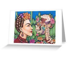 Defiance- a portrait of Frida Kahlo Greeting Card
