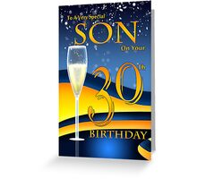 Son 30th Birthday Greeting Card Greeting Card