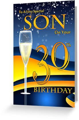 Son 30th Birthday Greeting Card by Moonlake