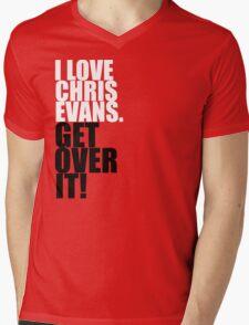 I love Chris Evans. Get over it! Mens V-Neck T-Shirt