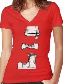 the eleventh doctor Women's Fitted V-Neck T-Shirt