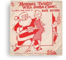 Twistin' With  Santa Canvas Print