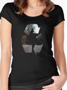 country road-autumn beauty Women's Fitted Scoop T-Shirt