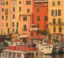 Cinque Terre Unesco Portovenere Italian Fishing Village Greeting Card Sticker
