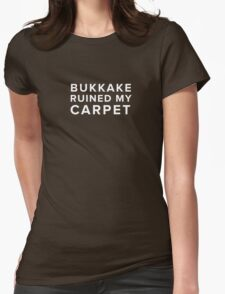 Bukkake (White Text) Womens Fitted T-Shirt