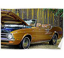 A Gold Finger Mustang Poster