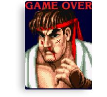 Ryu Game Over Canvas Print