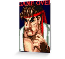 Ryu Game Over Greeting Card