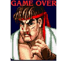 Ryu Game Over Photographic Print