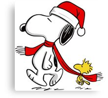 Snoopy Claus! Canvas Print