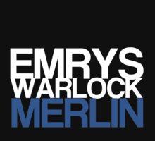 Emrys, Warlock, Merlin by KitsuneDesigns