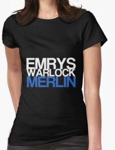 Emrys, Warlock, Merlin Womens Fitted T-Shirt