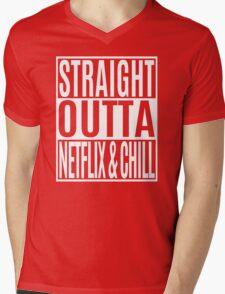 Straight Outta Netflix and Chill Mens V-Neck T-Shirt