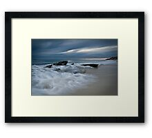 Winter Wave Surge Framed Print