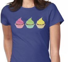 I'll Take Three Cupcakes Womens Fitted T-Shirt