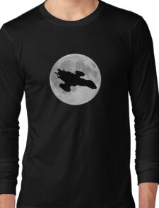 Serenity against the moon Long Sleeve T-Shirt