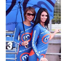 grid girls at Oulton Park Photographic Print