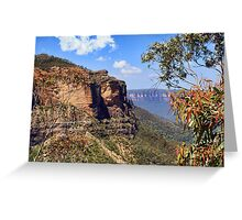 Blue Mountains View Greeting Card