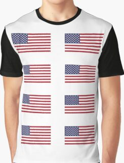 Made In USA Flag Decals - American Product Sticker Graphic T-Shirt