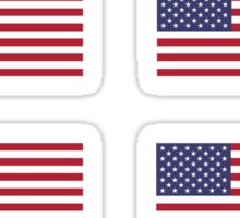 Made In USA Flag Decals - American Product Sticker Sticker