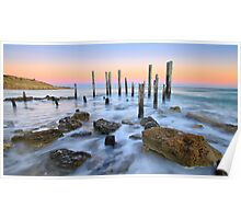 Early morning,Port Willunga Beach Poster