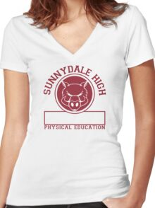 Sunnydale High PE Women's Fitted V-Neck T-Shirt