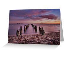 Bay of many colours Greeting Card