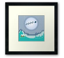 T'was the night before Christmas Framed Print