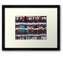 A multitude of bracelets Framed Print