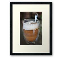 Coffee swirls... Framed Print